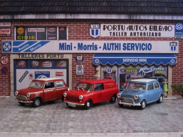 Coches a escala: Mini 1/43. Diorama Taller Servicio Mini Clásico para exposición de miniaturas a escala 1/43. - Foto 3 - 218437080