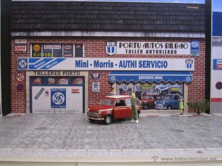 Coches a escala: Mini 1/43. Diorama Taller Servicio Mini Clásico para exposición de miniaturas a escala 1/43. - Foto 4 - 218437080