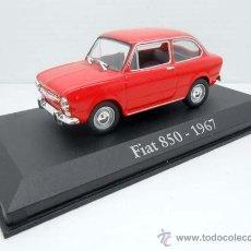 Coches a escala: COCHE FIAT 850 ROJO SEAT RBA METAL MODEL CAR 1/43 1:43 MINIATURA ALFREEDOM. Lote 190030208