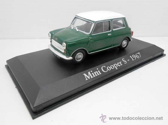 COCHE MINI COOPER S VERDE TECHO BLANCO RBA METAL MODEL CAR 1/43 1:43 MINIATURA ALFREEDOM (Juguetes - Coches a Escala 1:43 Otras Marcas)