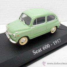 Coches a escala: COCHE 1/43 SEAT 600 COLOR VERDE AÑO 1957 SEISCIENTOS IXO RBA ALFREEDOM METAL MODEL CAR FIAT MINIATUR. Lote 276990778
