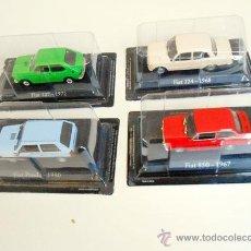 Coches a escala: 1/43 LOTE 4 COCHES FIAT 850 124 127 PANDA IXO RBA 1:43 SEAT METAL MODEL CAR MINIATURA MAQUETA COCHE. Lote 97690580