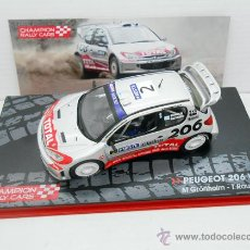 Coches a escala: 1/43 COCHE PEUGEOT 206 WRC RALLY NESTE OIL GRONHOLM RAUTIAINEN 1:43 MODEL CAR. Lote 144429642