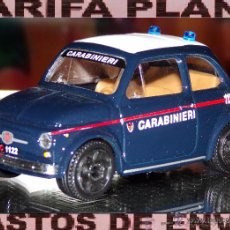 Coches a escala: FIAT 500 CARABINERI ESCALA 1:43 DE BURAGO EN CAJA NO ORIGINAL. Lote 48777144
