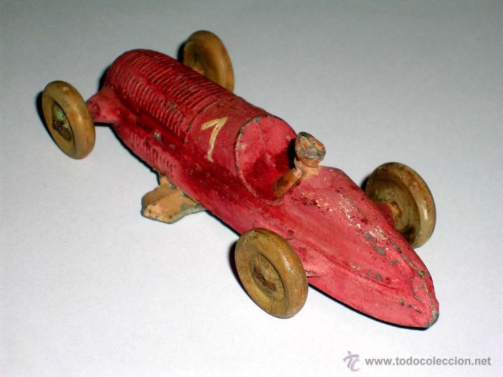 Coches a escala: Coche Carreras Grand Prix F-1, fabricado en plomo, 1/43, Pre Dinky, Casanelles Barcelona, años 30. - Foto 3 - 48860492