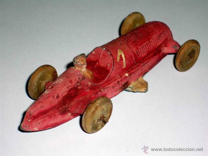 Coches a escala: Coche Carreras Grand Prix F-1, fabricado en plomo, 1/43, Pre Dinky, Casanelles Barcelona, años 30. - Foto 4 - 48860492