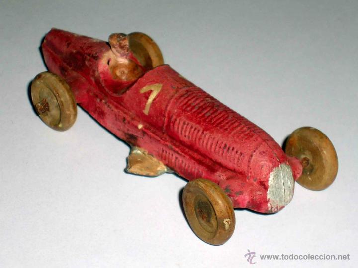 Coches a escala: Coche Carreras Grand Prix F-1, fabricado en plomo, 1/43, Pre Dinky, Casanelles Barcelona, años 30. - Foto 5 - 48860492