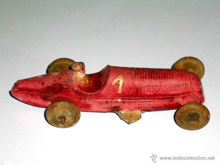 Coches a escala: Coche Carreras Grand Prix F-1, fabricado en plomo, 1/43, Pre Dinky, Casanelles Barcelona, años 30. - Foto 6 - 48860492