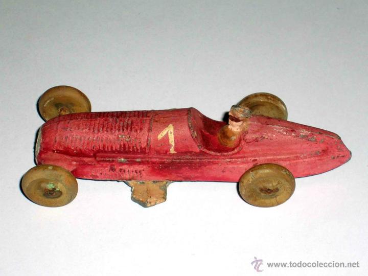 Coches a escala: Coche Carreras Grand Prix F-1, fabricado en plomo, 1/43, Pre Dinky, Casanelles Barcelona, años 30. - Foto 7 - 48860492