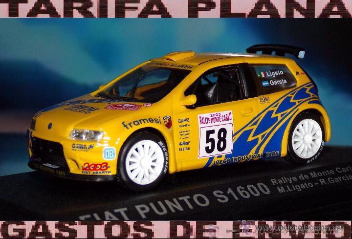 FIAT PUNTO S1600 RALLYE DE MONTECARLO 2003 M.LIGATO - R.GARCIA ESCALA 1:43 DE ALTAYA EN CAJA (Juguetes - Coches a Escala 1:43 Otras Marcas)