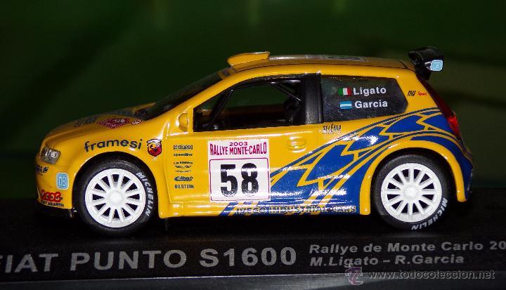 Coches a escala: FIAT PUNTO S1600 RALLYE DE MONTECARLO 2003 M.LIGATO - R.GARCIA ESCALA 1:43 DE ALTAYA EN CAJA - Foto 2 - 49232434