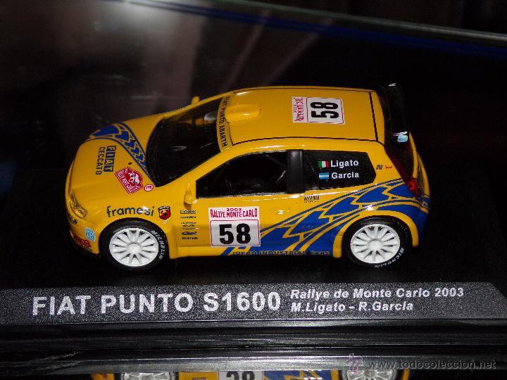 Coches a escala: FIAT PUNTO S1600 RALLYE DE MONTECARLO 2003 M.LIGATO - R.GARCIA ESCALA 1:43 DE ALTAYA EN CAJA - Foto 5 - 49232434