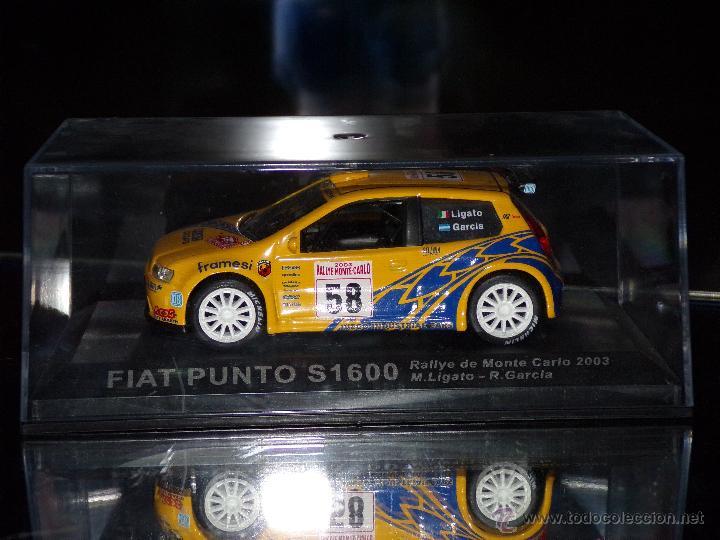 Coches a escala: FIAT PUNTO S1600 RALLYE DE MONTECARLO 2003 M.LIGATO - R.GARCIA ESCALA 1:43 DE ALTAYA EN CAJA - Foto 6 - 49232434
