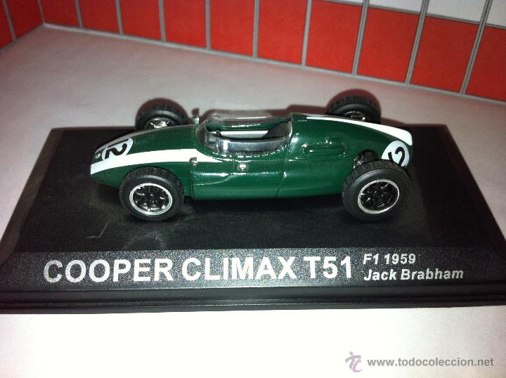 COOPER CLIMAX T51 F1 PILOTADO POR JACK BRABHAM (Juguetes - Coches a Escala 1:43 Otras Marcas)
