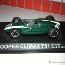 Coches a escala: COOPER CLIMAX T51 F1 PILOTADO POR JACK BRABHAM. Lote 183318147