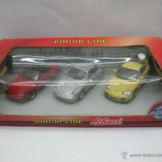 Coches a escala: SCHUCO JUNIOR LINE METAL - CAJA CON TRES COCHES - ESCALA 1/43. Lote 50119874