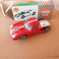 Coches a escala: COCHE FORD GT ROJO NACORAL CHIQUI CARS CAJA REF 2012 1 43 PLASTIC MODEL CAR. Lote 50399264