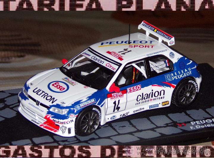 PEUGEOT 306 MAXI RALLYE TOUR DE CORSE 1998 FRANCOIS DELECOUR - DANIEL GRATALOUP DE ALTAYA EN CAJA (Juguetes - Coches a Escala 1:43 Otras Marcas)