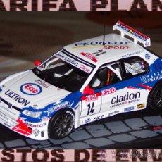 Coches a escala: PEUGEOT 306 MAXI RALLYE TOUR DE CORSE 1998 FRANCOIS DELECOUR - DANIEL GRATALOUP DE ALTAYA EN CAJA. Lote 50963715
