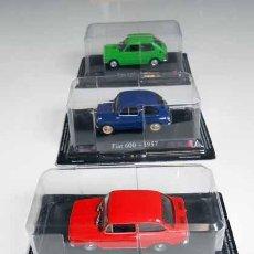 Coches a escala: LOTE 3 COCHES 1/43 FIAT 127 850 600 RBA METAL MODEL CAR 1:43 COCHE MINIATURA MAQUETA. Lote 158987490
