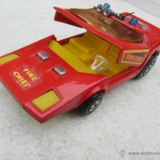 Coches a escala: COCHE JEFE BOMBEROS MATCHBOX SPEEDKINGS MADE IN ENGLAND 1971. Lote 53573988