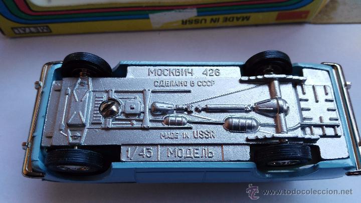 Coches a escala: coche moskvitch 426 coche ruso en caja - Foto 4 - 178184573
