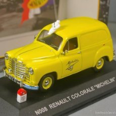 Coches a escala: RENAULT COLORALE 1950 MICHELIN - NOSTALGIE 1/43 FRANCE - RARO. Lote 57312410