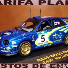 Coches a escala: SUBARU IMPREZA WRC RALLYE NEW ZEALAND 2001 R.BURNS -R.REID ESCALA 1:43 DE RALLY CAR EN CAJA. Lote 66438318