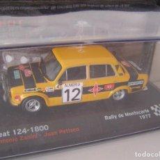 Model Cars - SEAT 124- 1800 DEL RALLY DE MONTECARLO DE 1977, DE ZANINI, COLECCIÓN SEAT SPORT, ALTAYA - 71112829