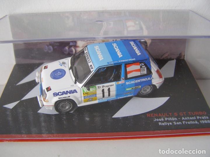 RENAULT 5 GT TURBO DEL RALLY DE SAN FROILAN DE 1988 , CAMPEONES ESPAÑOLES, ALTAYA. (Juguetes - Coches a Escala 1:43 Otras Marcas)