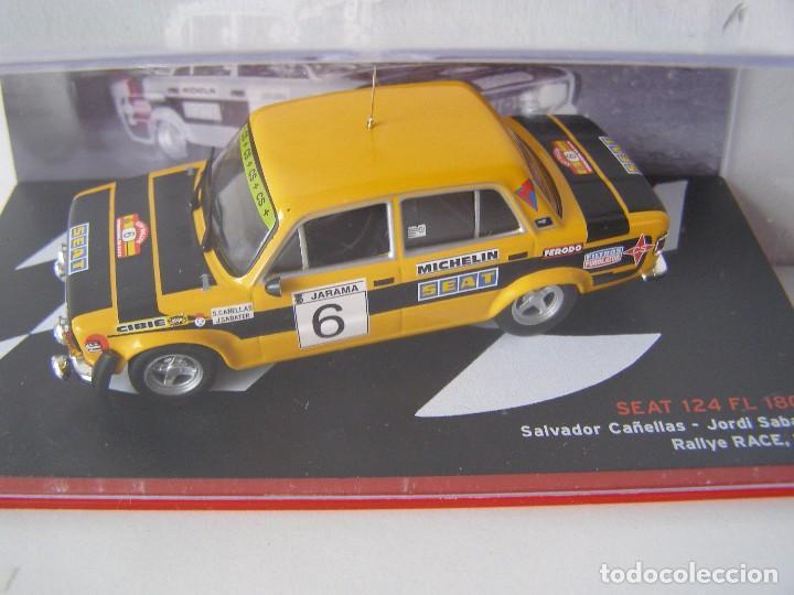 SEAT 124 FL 1800 DEL RALLY RACE DE 1977, DE CAÑELLAS , CAMPEONES ESPAÑOLES, ALTAYA. (Juguetes - Coches a Escala 1:43 Otras Marcas)