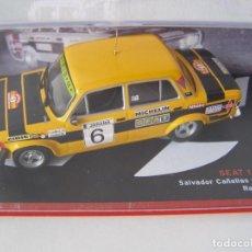 Coches a escala: SEAT 124 FL 1800 DEL RALLY RACE DE 1977, DE CAÑELLAS , CAMPEONES ESPAÑOLES, ALTAYA.. Lote 124544662