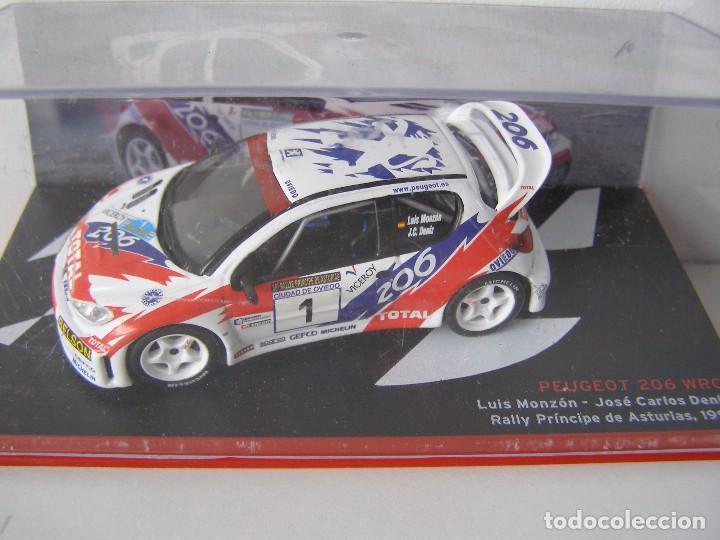 PEUGEOT 206 WRC DEL RALLY PRINCIPE DE ASTURIAS DE 1993 , CAMPEONES ESPAÑOLES, ALTAYA. (Juguetes - Coches a Escala 1:43 Otras Marcas)