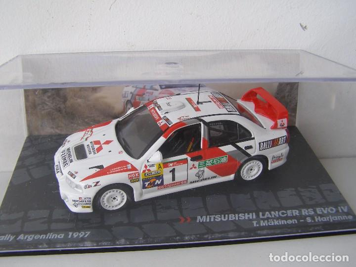 Coches a escala: MITSUBISHI LANCER RS EVO, RALLY ARGENTINA 97, MAKINEN, COLECCION RALLY DE ITALIA, EAGLE MOSS ALTAYA - Foto 1 - 131895527