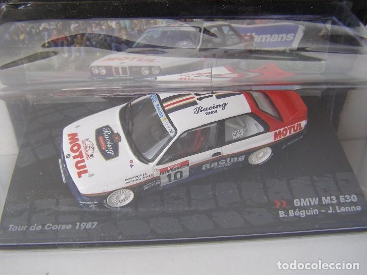 BMW M3 E30 DEL TOUR DE CORSE DE 1987, COLECCION RALLY DE ITALIA, EAGLE MOSS ALTAYA (Juguetes - Coches a Escala 1:43 Otras Marcas)