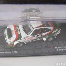 Coches a escala: PORSCHE 911 SC, RALLY MONTE CARLO 1980, COLECCION DE ITALIA, EAGLE MOSS ALTAYA, 1/43. Lote 83626628
