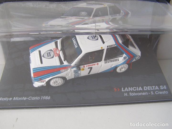 LANCIA DELTA S4, RALLY MONTE CARLO 1986, COLECCION DE ITALIA, EAGLE MOSS ALTAYA, 1/43 (Juguetes - Coches a Escala 1:43 Otras Marcas)