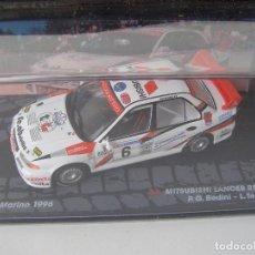 Model Cars - MITSUBISHI LANCER RS EVO III, RALLY SAN MARINO 1996, COLECCION DE ITALIA, EAGLE MOSS ALTAYA, 1/43 - 105810060