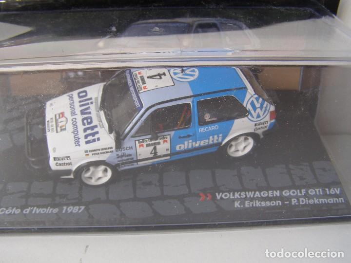 VOLKSWAGEN GOLF GTI 16V, COTE D` IVOIRE 1987, COLECCION DE ITALIA, EAGLE MOSS ALTAYA, 1/43 (Juguetes - Coches a Escala 1:43 Otras Marcas)