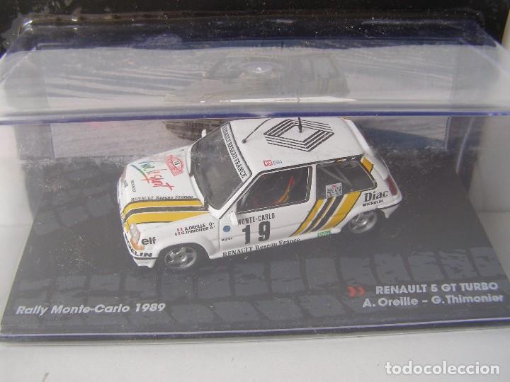RENAULT 5 GT TURBO, RALLY MONTE CARLO 1989, COLECCION DE ITALIA, EAGLE MOSS ALTAYA, 1/43 (Juguetes - Coches a Escala 1:43 Otras Marcas)