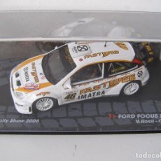 Coches a escala: FORD FOCUS RS WRC, RALLY SHOW DE MONZA 2006, COLECCION DE ITALIA, EAGLE MOSS ALTAYA, 1/43. Lote 71173169