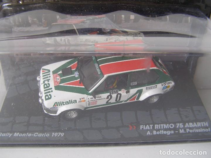 FIAT RITMO 75 ABARTH, RALLY MONTE CARLO DEL 79, COLECCION DE ITALIA, EAGLE MOSS ALTAYA, 1/43 (Juguetes - Coches a Escala 1:43 Otras Marcas)