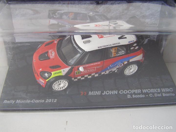 MINI JOHN COOPER WORKS WRC, RALLY MONTE CARLO 2012, COLECCION DE ITALIA, EAGLE MOSS ALTAYA, 1/43 (Juguetes - Coches a Escala 1:43 Otras Marcas)
