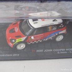 Coches a escala: MINI JOHN COOPER WORKS WRC, RALLY MONTE CARLO 2012, COLECCION DE ITALIA, EAGLE MOSS ALTAYA, 1/43. Lote 161479380