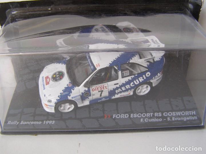 FORD ESCORT RS COSWORTH, RALLY SANREMO 93, COLECCION DE ITALIA, EAGLE MOSS ALTAYA, 1/43 (Juguetes - Coches a Escala 1:43 Otras Marcas)