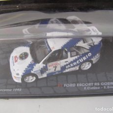 Coches a escala: FORD ESCORT RS COSWORTH, RALLY SANREMO 93, COLECCION DE ITALIA, EAGLE MOSS ALTAYA, 1/43. Lote 170453710
