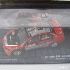 Coches a escala: MITSUBISHI LANCER WRC, RALLY MONTE CARLO 2005, COLECCION DE ITALIA, EAGLE MOSS ALTAYA, 1/43. Lote 71174085