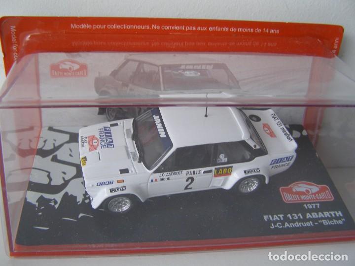 FIAT 131 ABARTH DE 1977, COLECCION RALLY DE MONTECARLO, ALTAYA 1/43. (Juguetes - Coches a Escala 1:43 Otras Marcas)