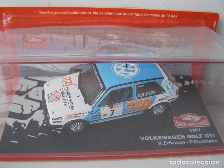 VOLKSWAGEN GOLF GTI DE 1987, COLECCION RALLY DE MONTECARLO, ALTAYA 1/43. (Juguetes - Coches a Escala 1:43 Otras Marcas)