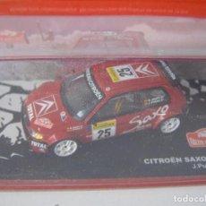 Coches a escala: CITROEN SAXO KIT CAR DE 1995, DE CHUS PURAS, COLECCION RALLY DE MONTECARLO, ALTAYA 1/43.. Lote 204427283